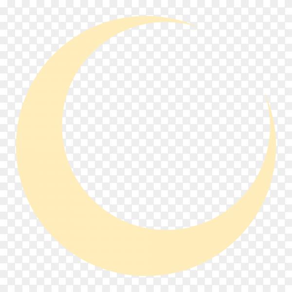 Beautiful Ramadan Kareem festival banner with golden crescent moon on transparent background PNG