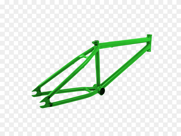 Bicycle frame isolated on transparent background PNG
