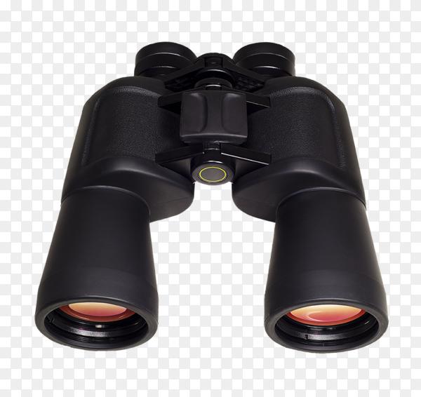 Black binoculars on transparent background PNG