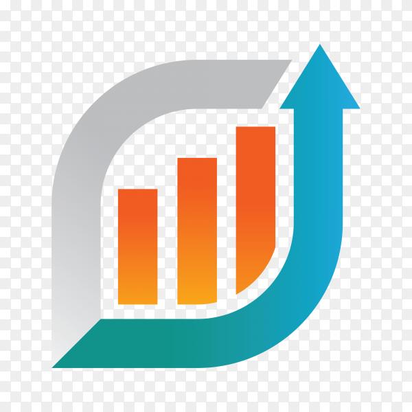 Business trend and finance logo design on transparent background PNG