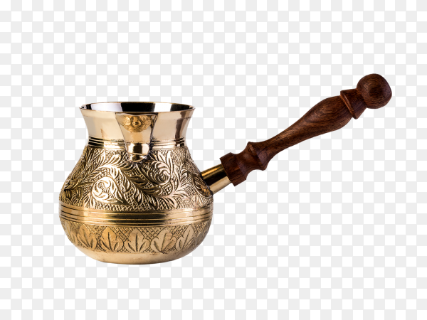 Cezve coffee maker on transparent background PNG