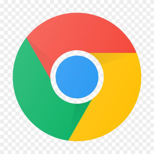 Chrome logo design on transparent background PNG