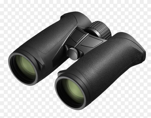 Close-up of binoculars on transparent background PNG