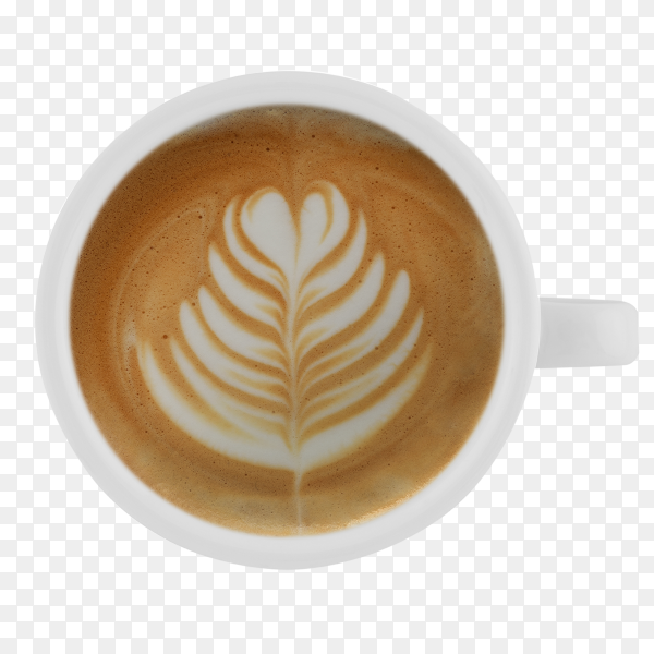 Coffee latte on transparent background PNG