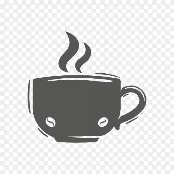 Coffee logo illustration on transparent background PNG