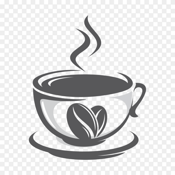 Coffee logo template on transparent background PNG