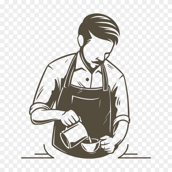 Coffee or bartender logo on transparent background PNG