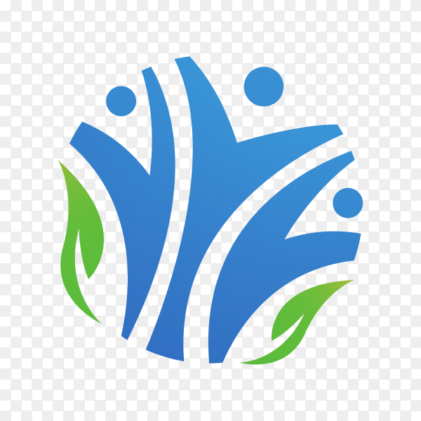 Community care logo premium vector PNG