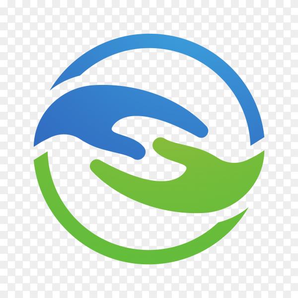 Community care logo symbol on transparent background PNG