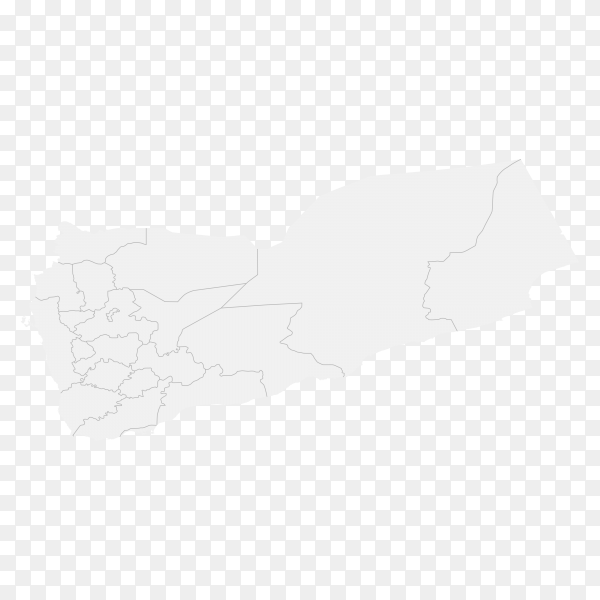 Country map with borders on transparent background PNG