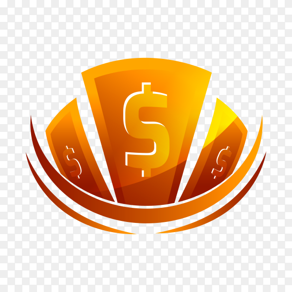 Creative money logo design on transparent background PNG