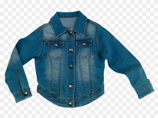 Denim woman's jacket on transparent background PNG