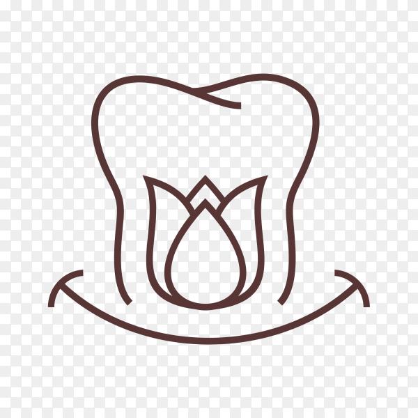 Dental logo template on transparent background PNG
