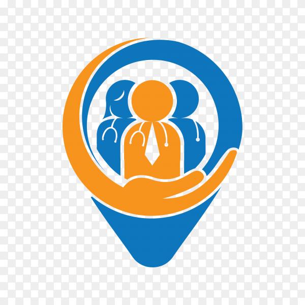 Doctor care logo on transparent background PNG