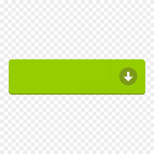Download button on transparent background PNG