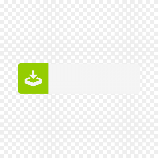 Download button template on transparent background PNG