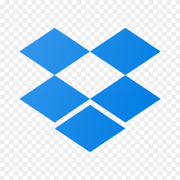 Dropbox logo on transparent background PNG