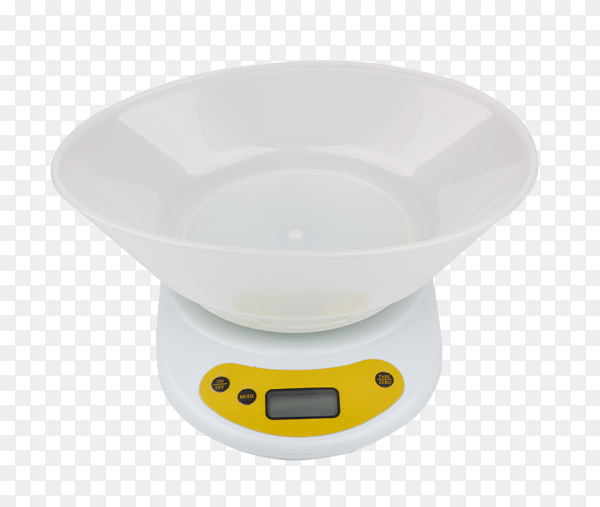 Electronic scales isolated on transparent background PNG
