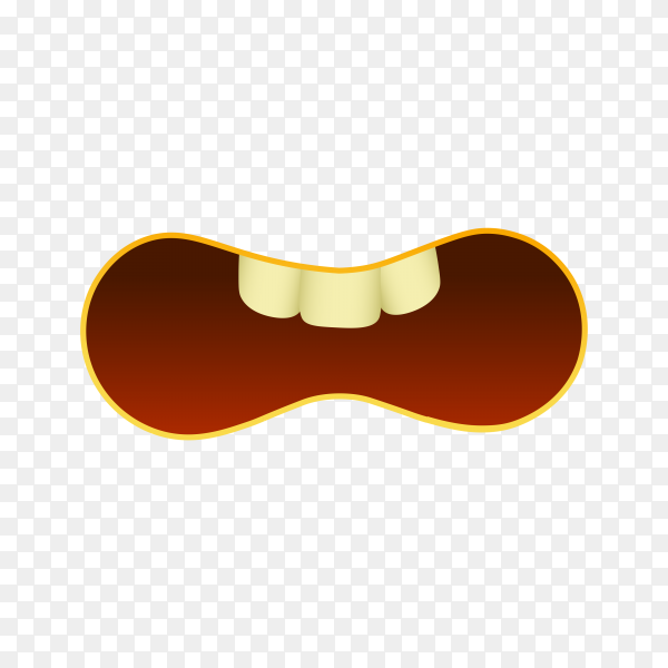 Emoji face isolated on transparent background PNG