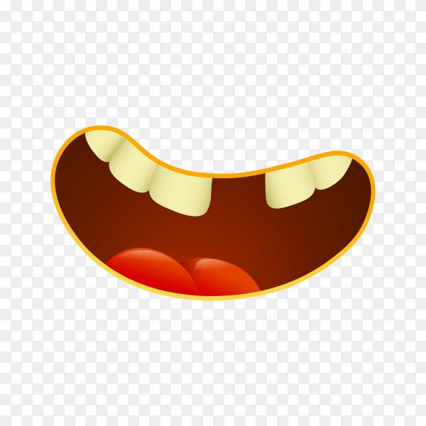 Emoji face on transparent PNG