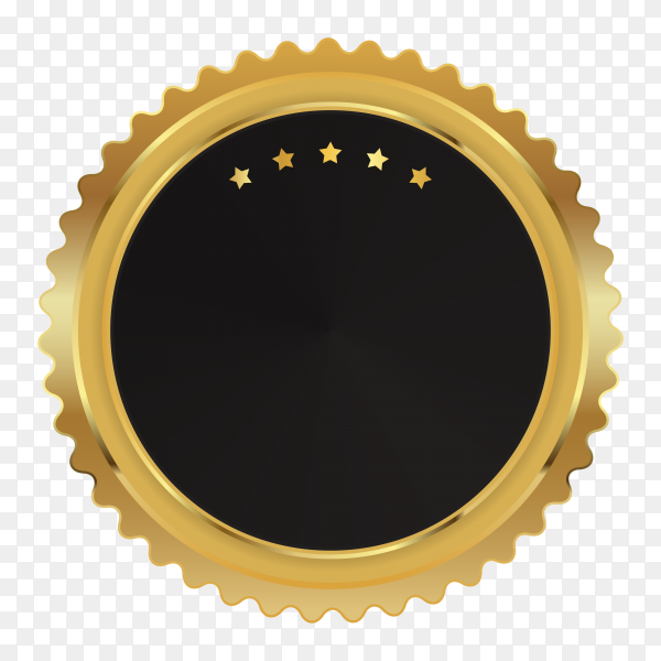 Empty blank label or circular stamp on transparent background PNG
