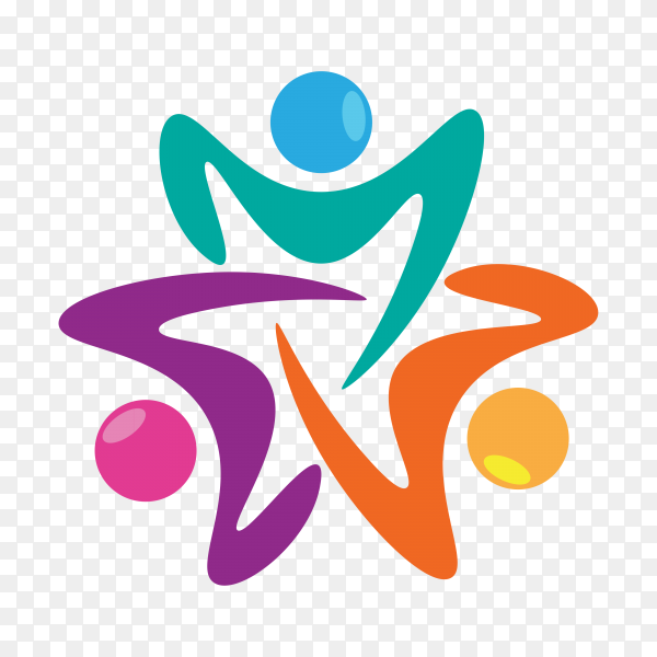 Family care logo template on transparent background PNG