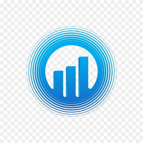Finance chart logo on transparent background PNG