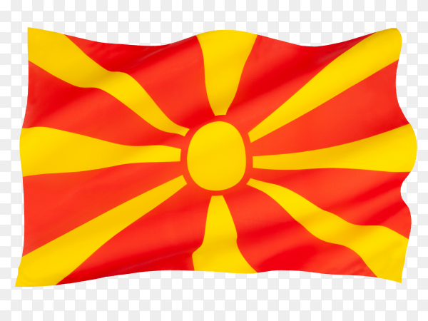 Flag of north Macedonia on transparent background PNG
