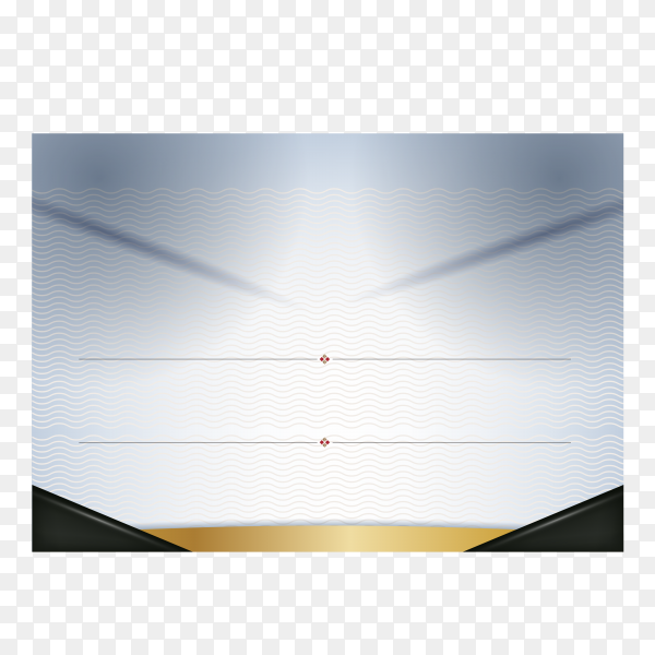 Flat design modern certificate template on transparent background PNG