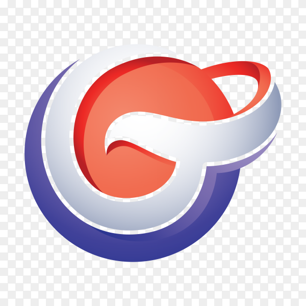 G Logo – Abstract Letter G 3D Logo on transparent background PNG