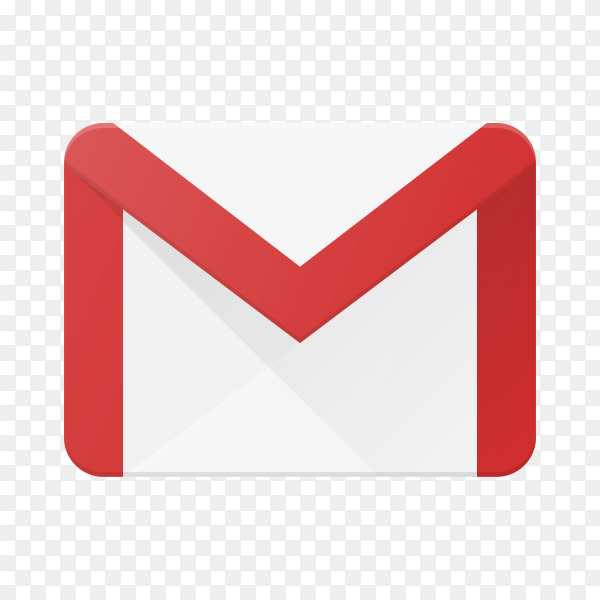 Gmail icon design template on transparent background PNG