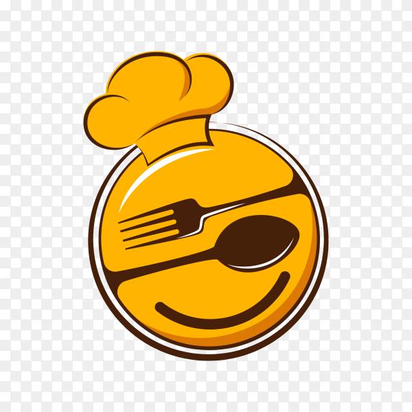 Good food logo design on transparent background PNG