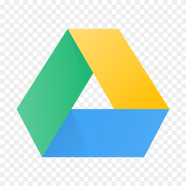 Google drive icon design on transparent background PNG