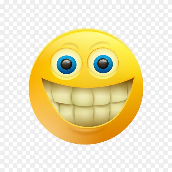 Grimacing Face Emoji on transparent background PNG