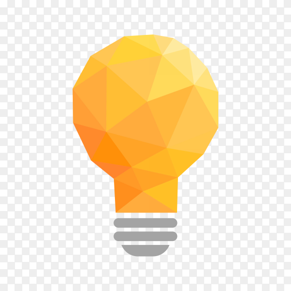 Hand drawn Light bulb – idea, creative, technology icon on transparent background PNG