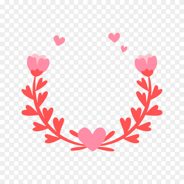 Hand drawn frames mother's day badge on transparent background PNG