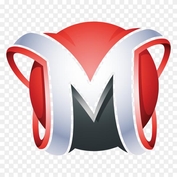 Illustration Letter M logo on transparent background PNG