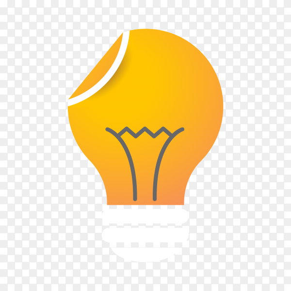Illustration of Light bulb – idea, creative, technology icon on transparent background PNG