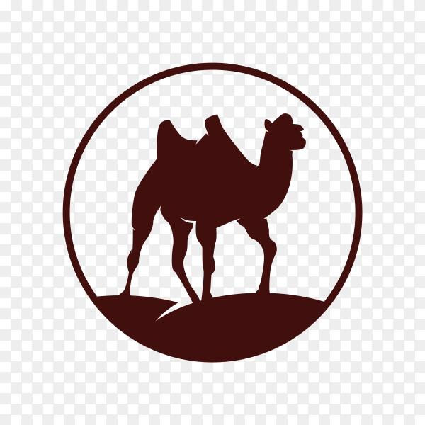 Illustration of camel logo design on transparent background PNG