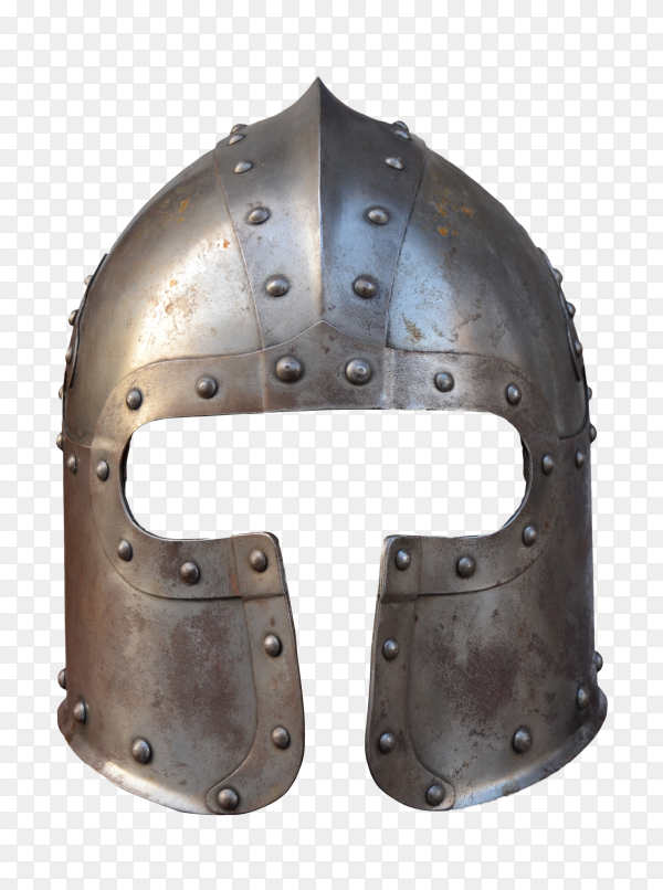 Isolated Armour Helmet on transparent background PNG