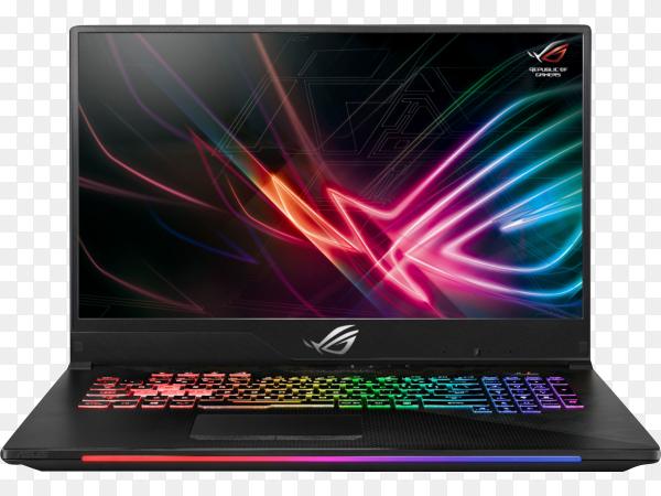 Laptop black screen mockup digital device on transparent background PNG