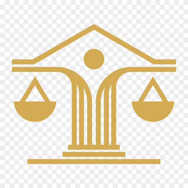 Law firm design logo on transparent background PNG