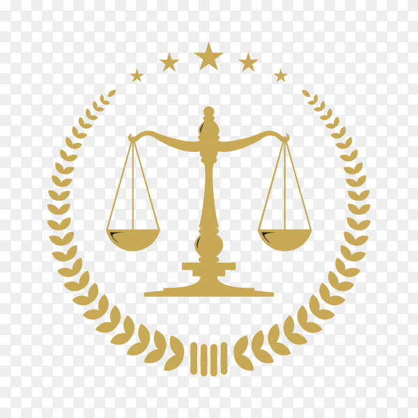 Law logo design template on transparent background PNG