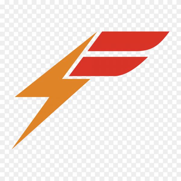 Letter F logo design premium vector PNG