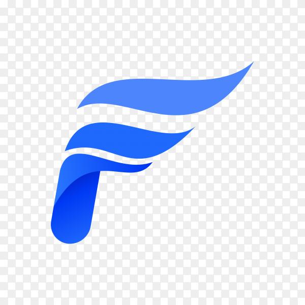 Letter F logo design template on transparent background PNG