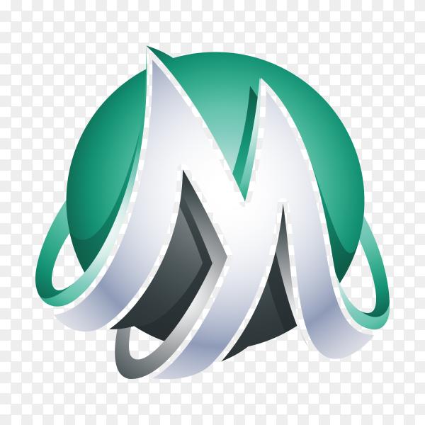 Letter M Logo template on transparent background PNG