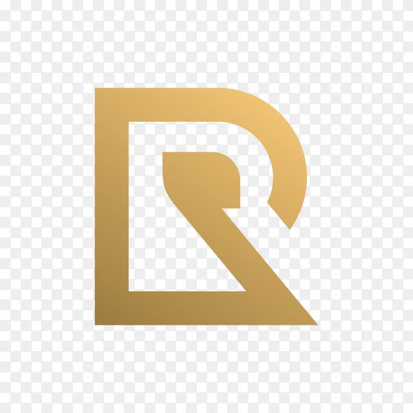 Letter R logo design on transparent background PNG