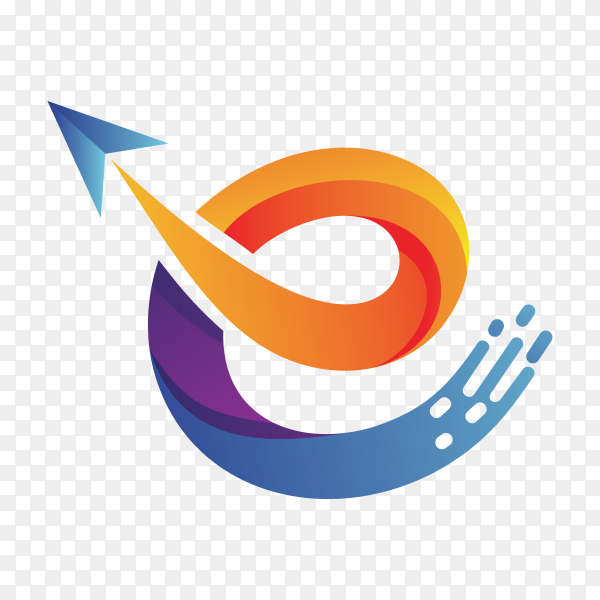 Letter e logo design template on transparent background PNG