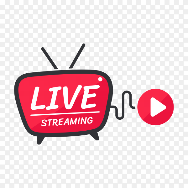 Live streaming icon on transparent background PNG
