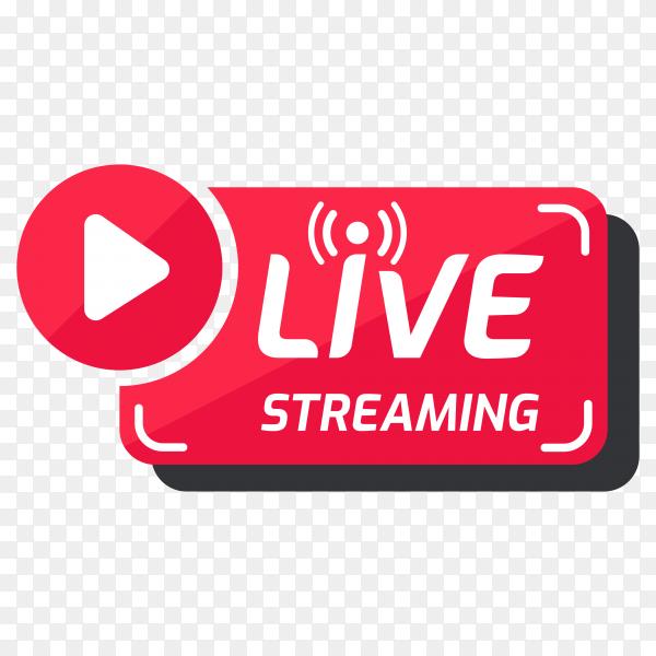 Live streaming symbol on transparent background PNG